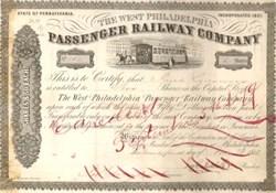 West Philadelphia Passenger Railway Company 1858
