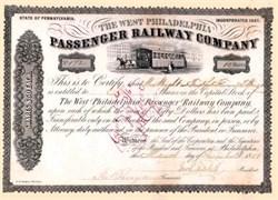West Philadelphia Passenger Railway Company 1858-1861