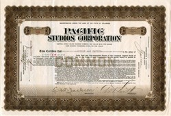 Pacific Studios Corporation - San Mateo, California 1920