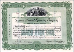 Passaic Worsted Spinning Company 1912 - New Jersey