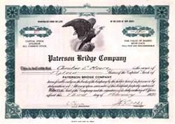 Paterson Bridge Company 1922 - New Jersey