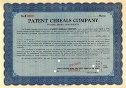 Patent Cereals Company