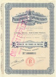 Pathe Phone Exploitation - 1910