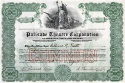 Palisade Theatre Corporation - New Jersey 1920
