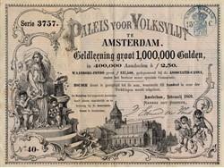 Paleis voor Volksvlijt te Amsterdam (Palace of Industry ) -  Netherlands 1869