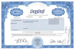 Paypal - Peter A. Thiel as CEO