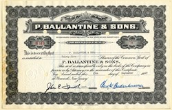 P. Ballantine & Sons (Famous Beer Company)  signed by Carl Badenhausen - Newark, New Jersey - 1949