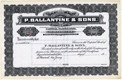Ballantine & Sons (Famous Beer Brewery) - Newark, New Jersey