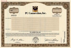 PC Connection, Inc. IPO Certificate (Raccoon Vignette)  - Delaware