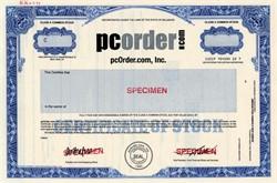 pcOrder.com, Inc  (Dor Com Bust) - Delaware