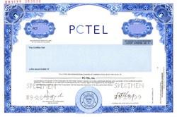 PC-TEL, Inc. IPO Specimen Stock Certificate - Delaware 1999