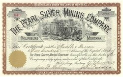 Pearl Silver Mining Company 1888