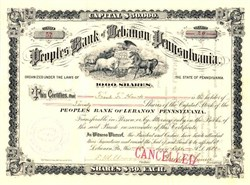 Peoples Bank of Lebanon Pennsylvania - 1888