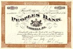 People's Bank - Farrell, Pennsylvania 1926