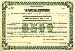 Pennsylvania Bridge Company - Pennsylvania 1936