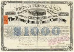 Pennsylvania Canal Company signed by Civil War Brigadier General Isaac Jones Wistar - 1870