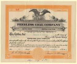 Peerless Coal Company - Utah 1925