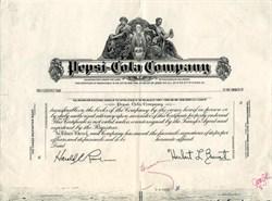 Pepsi-Cola Company (2 specimen certificates)  - Delaware 1961