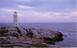 Peggy's Cove Lighthouse Postcard, Nova Scotia