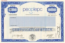 PeoplePC, Inc. (IPO Stock Certificate)  - Delaware 2000