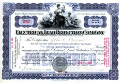 Electrical Lead Reduction Company signed by Pedro G. Salom co founder of the First U.S. Electric Car - 1904