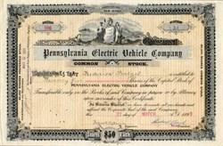 Pennsylvania Electric Vehicle Company - 1899