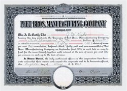 Colgate - Palmolive - Peet Company (Peet Conceived the Idea of a White Soap and later merged with Colgate) signed by Founder William Peet - 1913