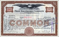 Peet Brothers Soap Company ( Original Colgate - Palmolive - Peet Company ) 1925 signed by  Albert William Peet