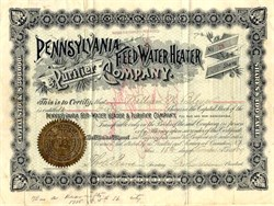 Pennsylvania Feed Water Heater & Purifier Company - New Jersey 1889