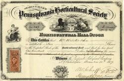 Pennsylvania Horticultural Society - Pennsylvania 1867