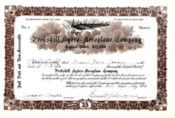 Peekskill Hydro Aeroplane Company (Issued) - 1912