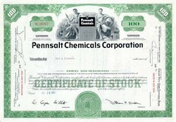 Pennsalt (ATOFINA ) Chemical Corporation Stock Certificate
