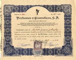 Perfumes n Cosmeticos, S.A. (Pre Castro) - Havana Cuba 1956