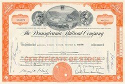 Pennsylvania Railroad Company Stock