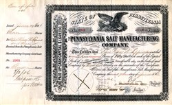 Pennsylvania Salt Manufacturing Company 1888 ( Now ATOFINA Chemicals, Inc )