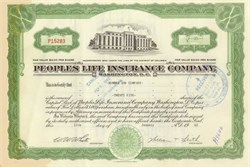Peoples Life Insurance Company (Now Monumental Life Insurance (a Transamerica Company) phone number is 800-638-3080)  - Washington, DC 1963