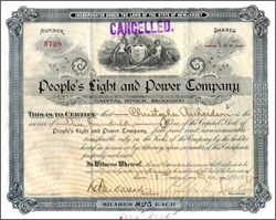 People's Light and Power Company 1896 - 1897 (Power to the People)