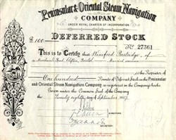 Peninsular & Oriental Steam Navigation Company - 1927 ( P&O Steam Navigation Company )