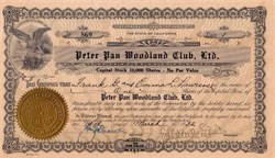 Peter Pan Woodland Club, Ltd. - Big Bear City, California 1932