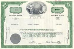 PEPI, Inc Common Stock Certificate