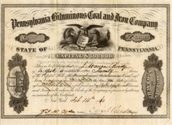 Pennsylvania Bituminous Coal and Iron Company - 1860