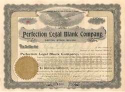 Perfection Legal Blank Company 1908 - Early Legal Forms Company