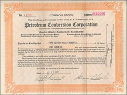 Petroleum Conversion Corporation 1938