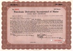 Petroleum Derivatives Incorporated of Maine