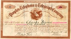 People's Telephone and Telegraph Company - New York City 1887