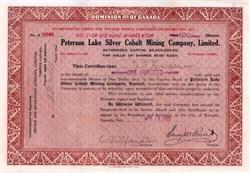 Peterson Lake Silver Cobalt Mining Company 1915