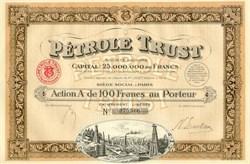 Petrole (Oil) Trust - 1924