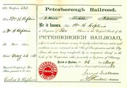Peterborough Railroad 1880 - Nashua, Maine