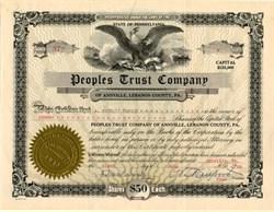 People's Trust Company - Pennsylvania 1930