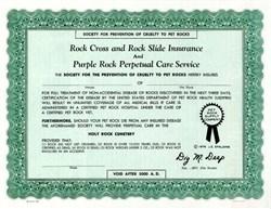 Rock Slide Insurance from Famous Pet Rock Company